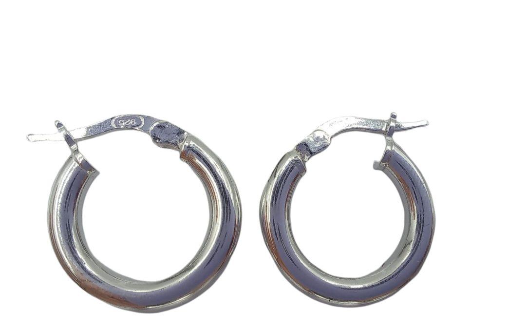 Aros tubo argolla plata 925